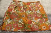 LIZ GOLF Women's Floral Golf Skirt Side Pockets Athletic Skort Size 14 EUC!