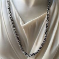 NEW Wheat Link Albanian Mens Chain Necklace 925 Sterling Silver 4mm 30GR 22Inch