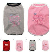 Cute Pet Dog Cat Clothes Vest Summer Puppy T Shirt Clothing Small Chihuahua Coat