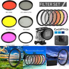 58 mm CPL+ND2+ UV + couleur filtre polarisant Kit pour Gopro Hero 6/5 objectif photo