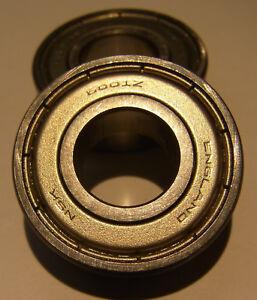 10 Stück NSK Kugellager 6001 2Z = ZZ 12x28x8 mm