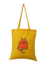 Nuevo Bolso: Gato, soleado amarillo, 100% algodón
