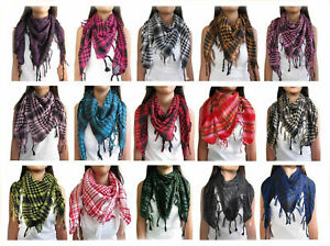 ARAB DESERT SCARF SHEMAGH PASHMINA KEFFIYEH ARAFAT WRAP BNIP 9 COLOUR OPTIONS