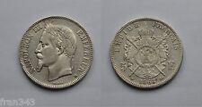 FRANCIA FRANCE 5 Francos francs 1868 NAPOLEON III BB km#799.2 F
