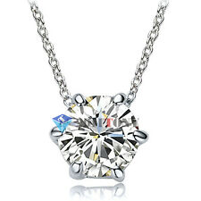 Sparkling Swarovski Crystal Necklace 18K White Gold Plated Bridal Jewellery
