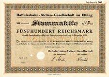 Haffuferbahn AG  1924 Elbing / Elblag jetzt Polen