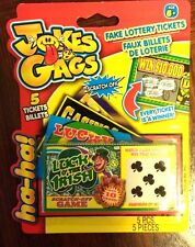 Fake Scratch Off Lottery Lotto Game Tickets Jokes Gags 5 x Luck of Irish NIB