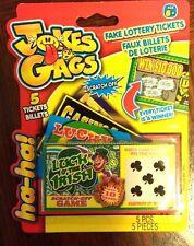 Fake Scratch Off Lottery Lotto Game Tickets Jokes Gags 5 x Luck of Irish NIB