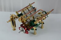 V4-cylinder steam engine (With oiler glass and gear) Free Shipping