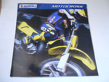 2002 Suzuki Motocross Brochure RM125 RM250 RM85