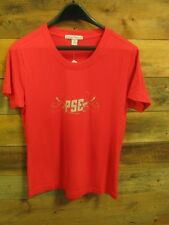 NEW PSE ARCHERY LADIES METALLIC TEE, X-LARGE, RED/GRAY, #PSE41883XL