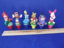"""6 Disney Figures Stampers And One """"Kiss"""""""