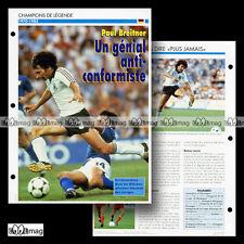 #026.08 - PAUL BREITNER (REAL MADRID, BAYERN MUNICH) Fiche Football / Fussball