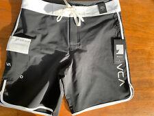 RVCA VA 33 Eastern Trunk Boardshorts Swim Trunks 18 Inch Length NWT Men's Black