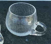 Bowle Becher - Tasse - Krakelee Kraklé Craquelé Glas - 60'er Jahre