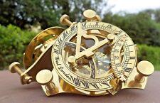 Maritime Brass Sundial Compass Nautical Sailor Magnetic Pocket Marine Device