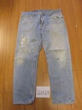 levi 501 feather destroyed grunge jean tag 42x32 Meas 39x31.5 22422F