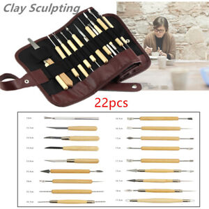 22pcs Clay Sculpting Set Wax Carving Pottery Tools Air Drying Clay/Polymer Clay