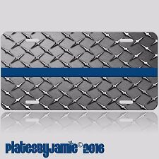 Thin Blue Line Police Support Law Enforcement Novelty Vanity License Plate Tag