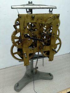 Antique E. Ingraham & Co. Kitchen Shelf Parlor Clock Movement, 8 Day T&S Working