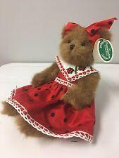 "Bearington Bears ""Little Lady"" 10"" Collector Bear Sku #1625- 2006 Retired w/tags"