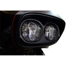 Trask Dual Headlight Mesh Black Grilles for Harley Road Glide FLTR/X 98-13