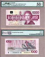1988 $1000 Bank of Canada Bird Series Replacement Note; BC-61aA. PMG AU53