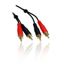 10m 33 Feet Twin/2 Phono RCA Male to M Stereo Audio Cable/Lead/Wire GOLD Plugs