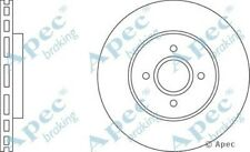 1x OE Quality Replacement Front Axle Apec Vented Brake Disc 4 Stud 300mm Single