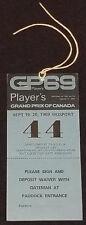 1969 - FORMULA 1 - PLAYER'S GRAND PRIX MOSPORT, ONTARIO - TICKET + PASS (3)