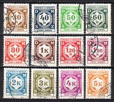 Germany / Bohmen und Mahren - 1941 Official numerals Mi. 1-12 VFU