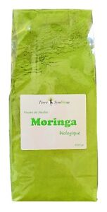 Moringa BIO - Sachet 450g - Poudre de feuille Biologique - Santé - Energie