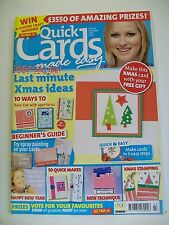 Magazine. Quick Cards made easy. Issue 43. December 2007. Last Minute Xmas Ideas