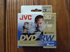 JVC DVD-RW 3 pack 3x 30 min Tapes for Camcorder
