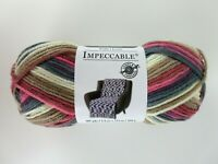 Loops & Threads Impeccable Yarn 3.5 oz 187 yds Color Rose Fog Varg 100% Acrylic