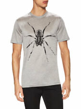 $370 NWT Lanvin Cotton Spider Graphic T-Shirt Men Grey Black US Small Medium 38