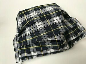 ADULT REUSABLE WASHABLE DRESS CAMPBELL TARTAN FACE MASK WITH FILTER POCKET