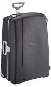 Samsonite Aeris Upright L Suitcase Luggage, 78 cm, 118.5 Litre, Black (Black)