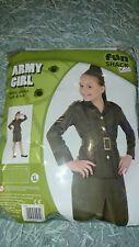 Army Girl Fancy Dress Costume 10-12 Year Old Fun Shack Kids