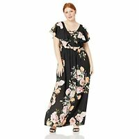 City Chic Women's Apparel Women's Plus Size Floral Maxi Dress, Tuscan Rose, 20W