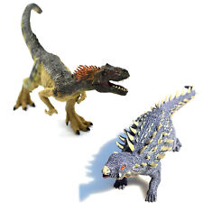 Realistic Polacanthus + Allosaurus Figure Jurassic Dinosaurs Model Kids Toy Gift