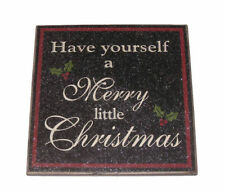 Black Christmas Plaque/Sign