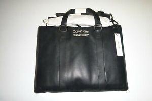 calvin klein mens designer soft black Messenger Bag Attaché Case shoulder bag