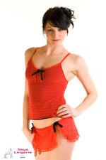 GRACIA ensemble caraco et string jupette rouge  Pascal Morabito Taille XS/S