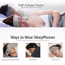 Bluetooth Sports Headband Run Sleep Music Mic Headphone Earphones Stereo Headset