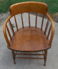 Solid Oak Captain's Chair / Firehouse Chair  (RP-AC87)
