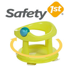 Safety First Swivel Baby Bath  Rotating Ring Seat Bathtub Safety 1st -Lime Green