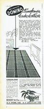 Publicité Advertising 097  1957   tapis végétaux Benoit   carpette Domino