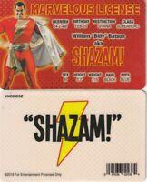 SHAZAM DC Comics Superhero Billy Batson card Drivers License novelty fake id
