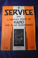 November 1933 Service Magazine Monthly Digest of Radio and Allied Maintenance